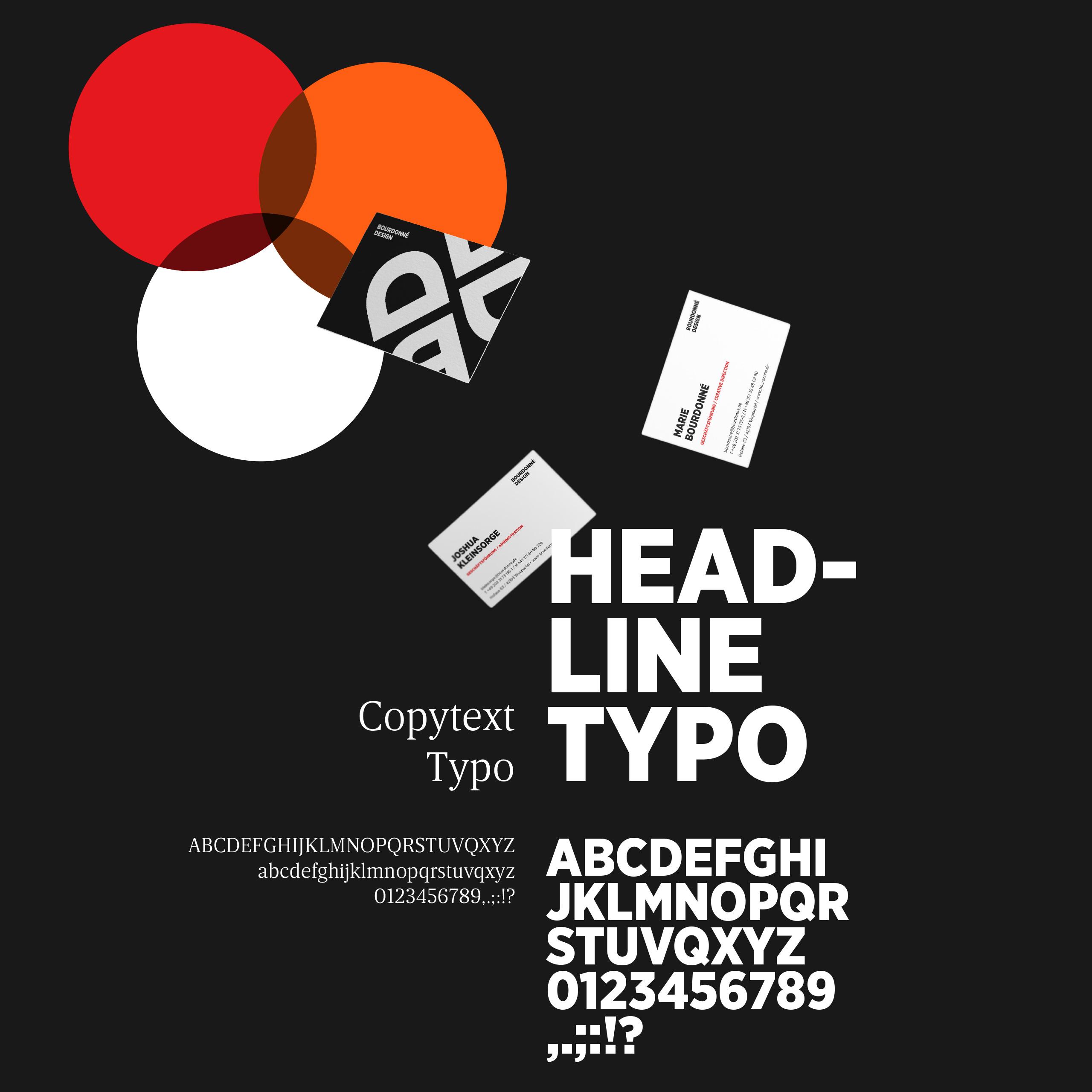 Bourdonné Design Corporate Design Geschäftsausstattung Typografie