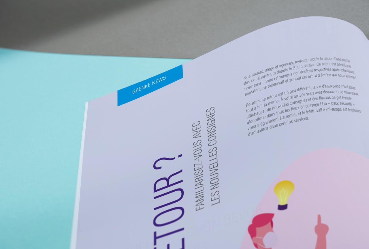 Grenke Newsletter Editorial Zeitschrift Bourdonné Design