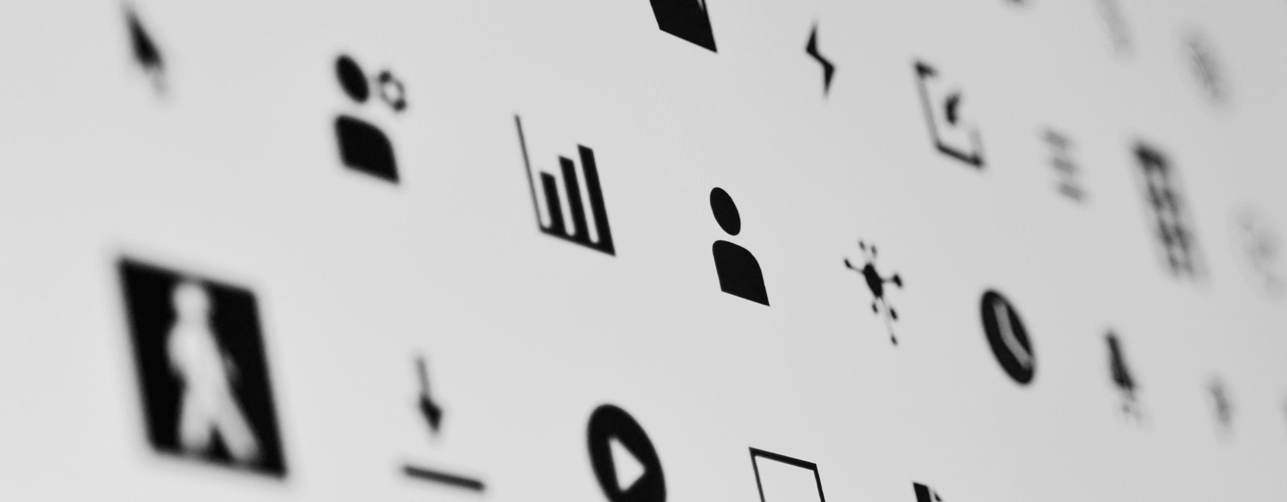Grenke Piktogramme Bildschirm Bourdonné Design
