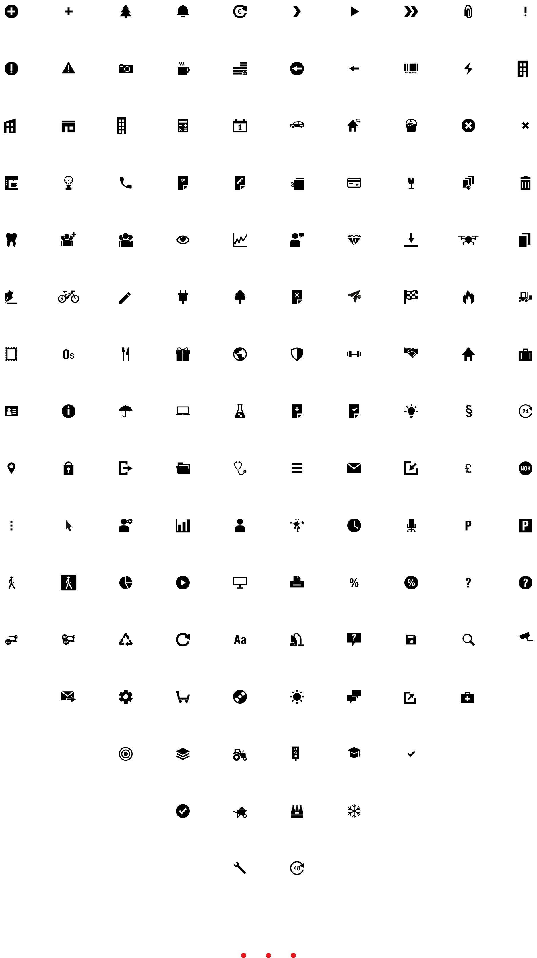 Grenke Piktogramme Iconset Übersicht Bourdonné Design